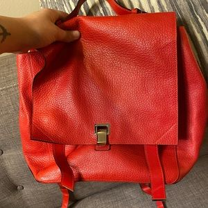 Proenza Schouler Bright Red Leather Backpack